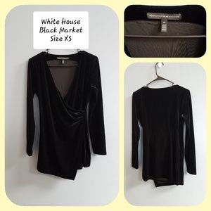 White House Black Market Draped Velvet Tunic